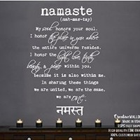Wall Decal Vinyl Sticker Decals Art Decor Design Quote Lettering Words Symbol Namaste Mandala Yoga Indian Buddha Dorm Office Bedroom (r815)