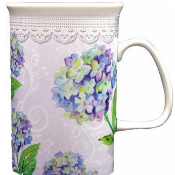 Hydrangea Bone China Mug