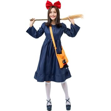 Cool Women's Kiki's Delivery Service Cosplay CostumeAT_93_12