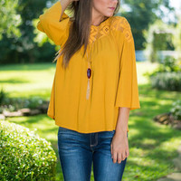 Creative Conversations Blouse, Mustard