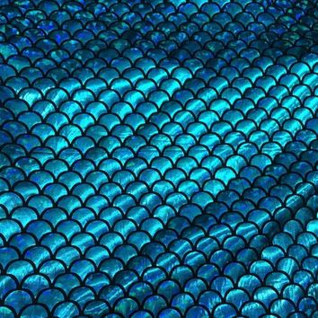 145CM Width Fish scale 4 ways stretch laser knit fabric for Tissue Kid Bedding textile for Sewing Tilda Doll 1 Yard