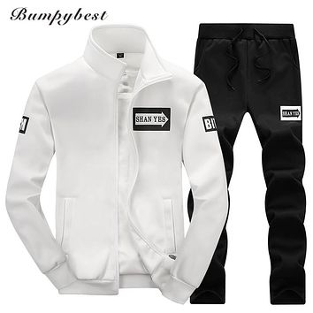 Bumpybeast 2017 sportswear hoodies set Autumn men clothes Polo track suits tracksuits male sweatshirts & Coats Joggers size 4XL