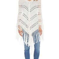 Spell & The Gypsy Collective Route 66 Poncho in Cream