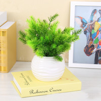 1PC Artificial Plastic Pine Plant Fake Flower Wedding Flower Arrangement Home Decoration