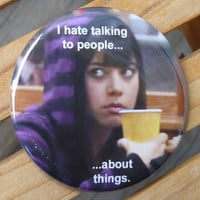 April Ludgate 2.25 pinback button, I Hate Talking To People... Parks and Rec
