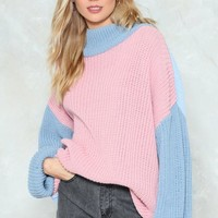Knit Must Be Love Contrast Sweater