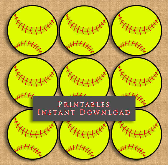 Inventive image in printable softball