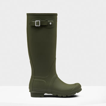 Hunter - Original Tall Matte Dark Olive Rain boot