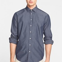 Men's rag & bone 'Charles' Trim Fit Chambray Sport Shirt,