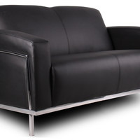 Boss Caressoftplus Love Seat with Chrome Frame