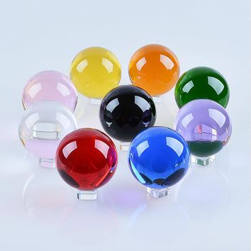 """LS 50mm Quartz Crystal Ball Sphere Healing Crystals With Stand 1.97"""""""