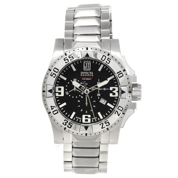 Invicta 14451 Men's Jason Taylor Excursion Black Dial Chronograph Steel Dive Watch