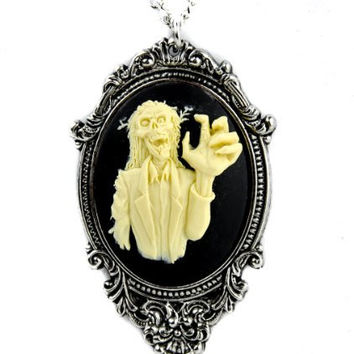 Zombie 3D Cameo Necklace Walking Dead Pendant Jewelry