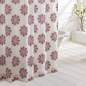 Mariposa - Fuchsia - Medallion Motif - Shower Curtain