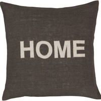 Stencil Throw Pillow Brown, Neutral