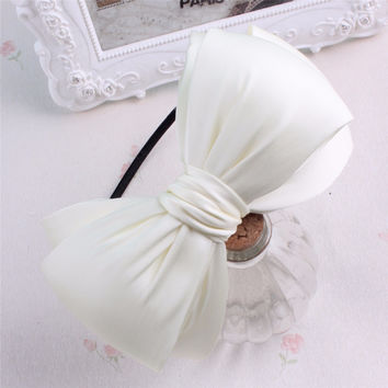 Free Shipping Children Lovely big bow hairbands baby girl hair accessories child hairpins