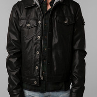 Urban Outfitters - Levi's Faux Leather Hooded Jacket