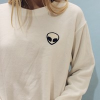 NANCY ALIEN PATCH SWEATSHIRT