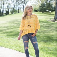 Crochet Bell Sleeve Top, Mango