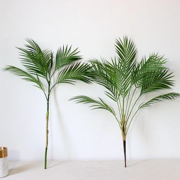 Artificial Palm Tree Plants, Real Touch Silk Palm Branch for Home Decoration.