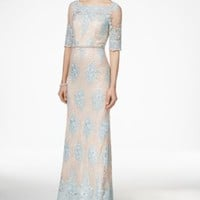 Tahari ASL Embellished Lace Dress | macys.com