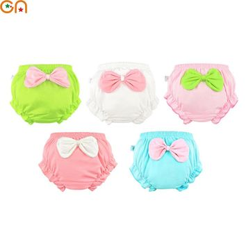 Kids 100% Cotton Underwear Panties Girls,Baby,Infant Cute Big Bow shorts For Children fashion High-quality Underpants gifts CN