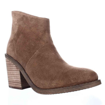 Steve Madden Shrines Block Heel Ankle Booties, Chestnut, 9.5 US