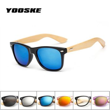 YOOSKE Bamboo Sunglasses for Men Women Travel Goggles Sun Glasses  Vintage Wooden Leg Eyeglasses Fashion Brand Design