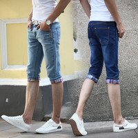 Men Summer Korean Slim Jeans [10366807939]