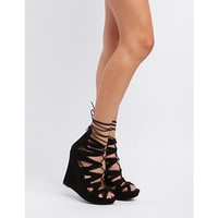 Lace-Up Platform Wedge Gladiator Sandals