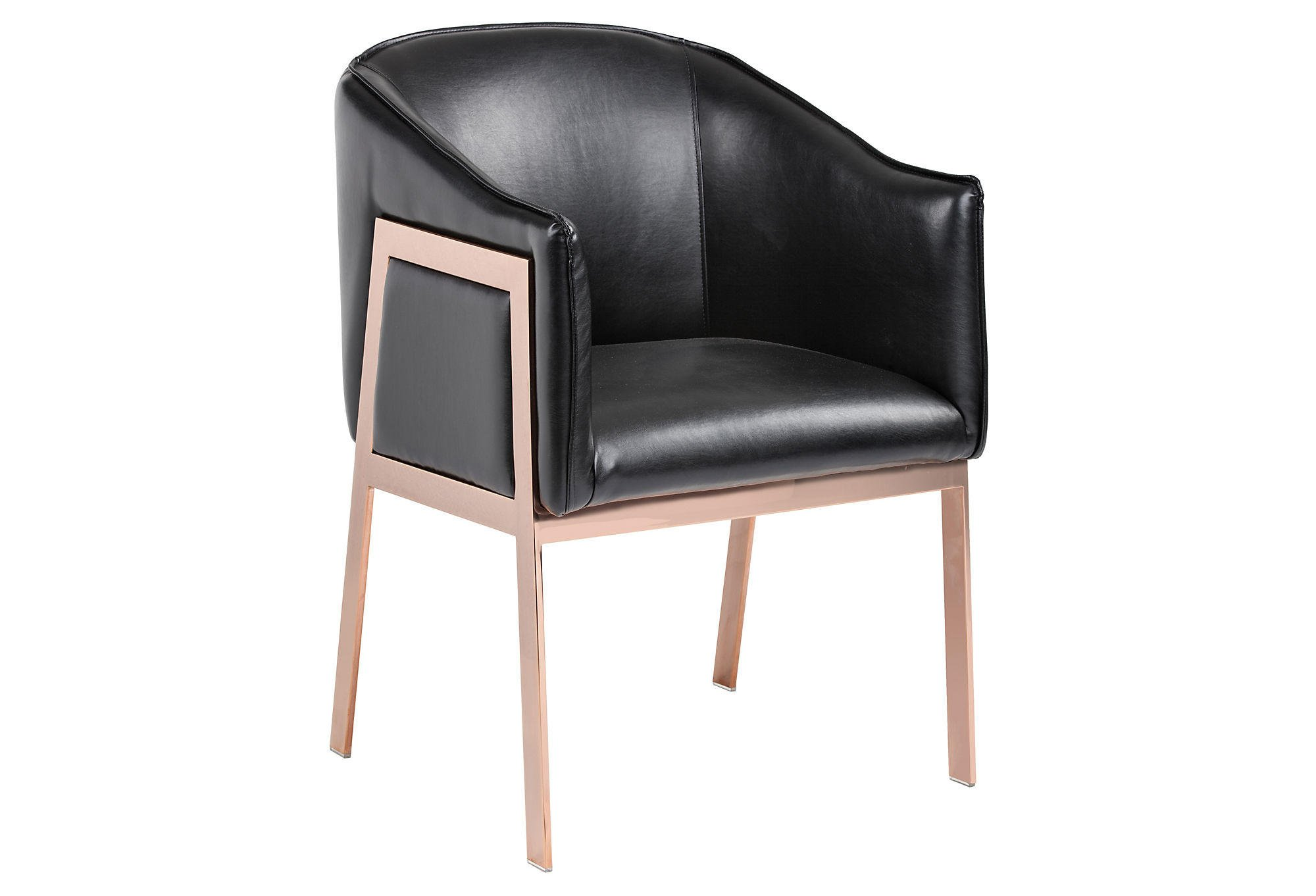 Rose Gold Accent Chair Black Leather From One Kings Lane