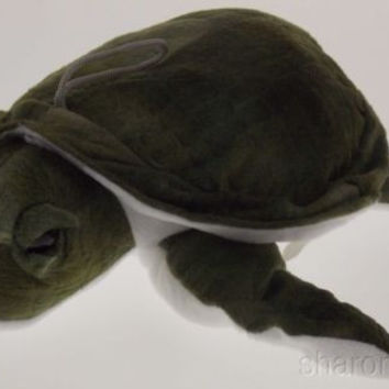 "Sea Turtle Kipp Green Quilted Stuffed Animal Plush 9"" Soft Toy Realistic NEW Tag"