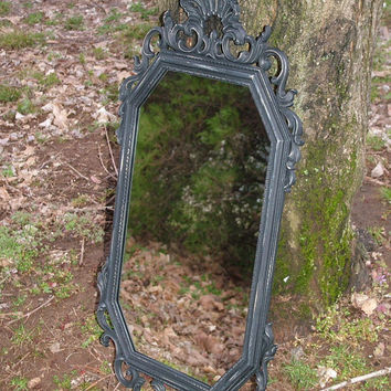 Ornate Mirror, Shown in Distressed Black ,Ornate Vintage Wall Mirror ,31 1/2 in. Chuseoose Color,Mirror or Chalkboard, Victorian