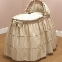 Baby Doll Bedding Cappuccino Bassinet Set, Coffee