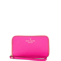 cherry lane louie wristlet wallet, pink - kate spade new york