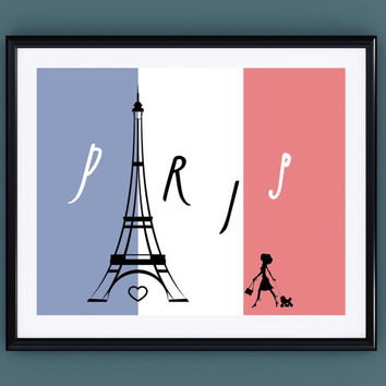 Paris Print ~ Eiffel Tower Decor Romantic Prints ~ Paris is always a good idea Audrey Hepburn, Paris Cityscape French Print Girlfriend gift