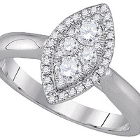 Diamond Fashion Ring in 14k White Gold 0.5 ctw