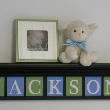 Blue and green baby boy nursery decor from nelsonsgifts on for Baby room decoration letters