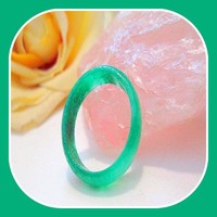 """Abundance"" Green Jade Ring Size 10"