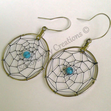Horse Hair Dreamcatcher Earrings  Made to Order