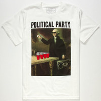 Riot Society Political Party Mens T-Shirt White  In Sizes