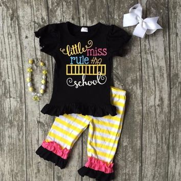 Back To School Little Miss Rule the Shool Outfit