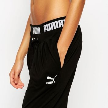 Puma Hareem Sweat Pants With Contrast Taped Waistband