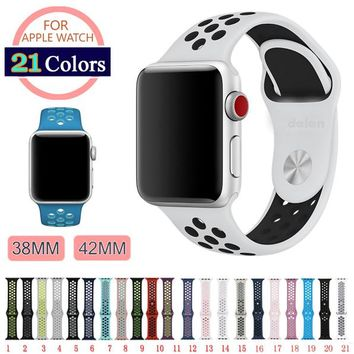 Apple Watch Series 1, 2, & 3 Silicone Colorful Silicone Band
