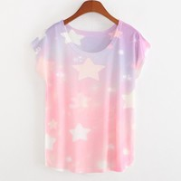 Cute Pastel Star Tees