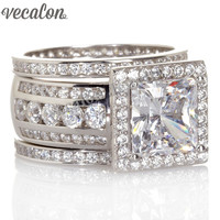 Ethnic Luxury Engagement Band 3ct Cz 925 Sterling Silver