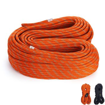 CE Approved, 22-38KN Static Rope Outdoor Rescue Safety Rappelling Rope For Rock Climbing Caving Drifting,10M/pcs