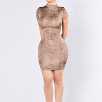 Keeps Getting Better Dress - Bronze