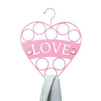 Boston Warehouse 8-Loop Metal ''Love'' Accessory Organizer