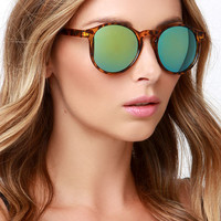 Pause and Reflect Tortoise Mirrored Sunglasses